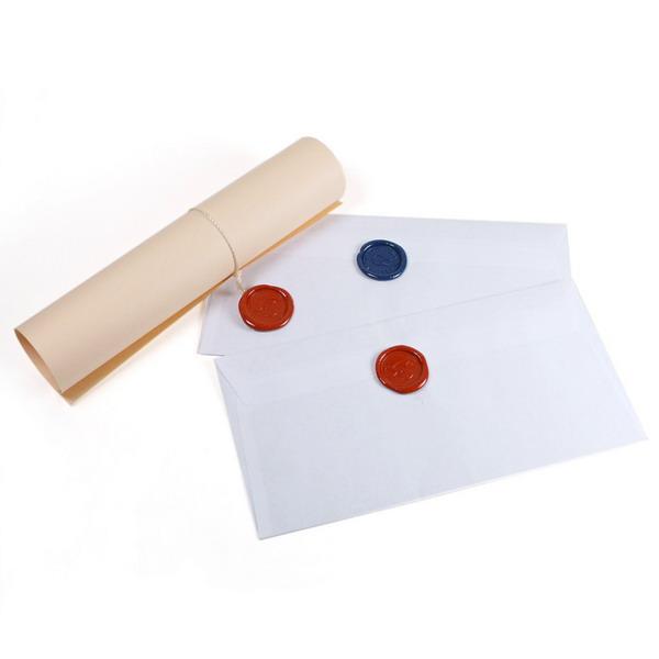Конверты с сургучной печатью к 8 марта.