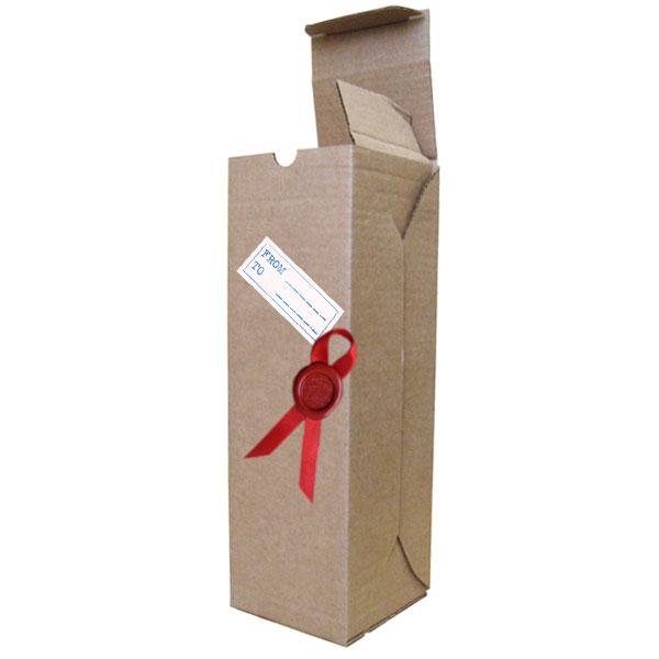 Как сделать подарочную коробку для бутылки